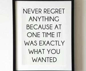quote, regret, and life image