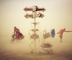 Burning Man and victor habchy image