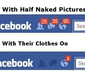 girl, guys, and facebook image