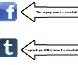 facebook, tumblr, and school image