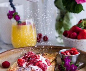 food, strawberry, and breakfast image