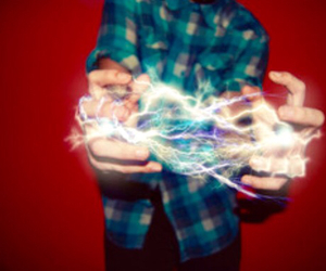 boy, light, and hands image