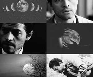 moon, supernatural, and castiel image