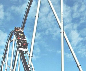 fun, summer, and Roller Coaster image