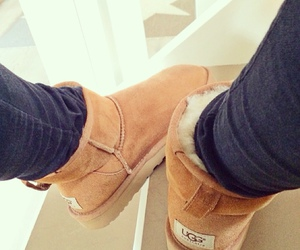 cold, uggs, and girl image