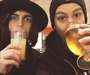 mike fuentes, kellin quinn, and beer image