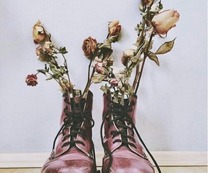 flowers, grunge, and dr martens image