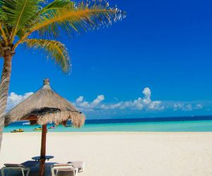 beach, beautiful, and cancun image