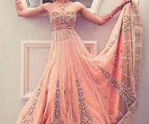 dress, indian, and wedding image