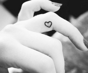 girl, heart, and tatoo image