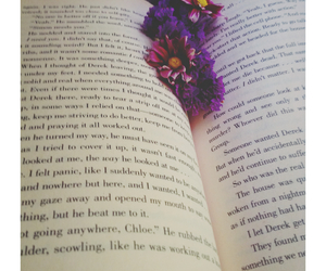 boho, books, and flowers image