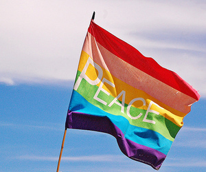 peace, flag, and rainbow image