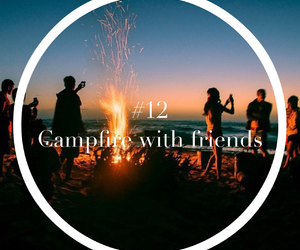 campfire and love image