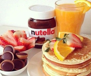 nutella, food, and breakfast image