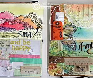 art journal, mixed media, and jenn olson image