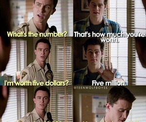 teen wolf, funny, and parrish image