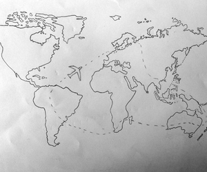 plane, the world, and travel image