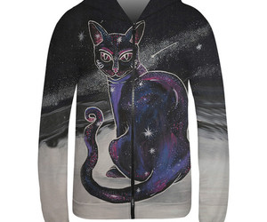 cat, hoodie, and fashion image