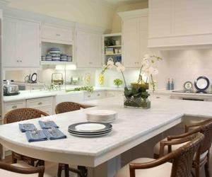 kitchen, kitchen island ideas, and kitchen islands image