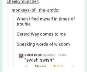 funny, gerard way, and jokes image