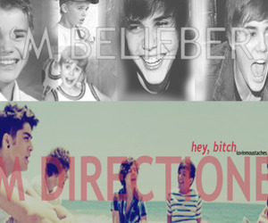 lol, 1d, and belieber image
