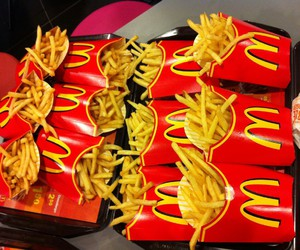 McDonalds, food, and fries image