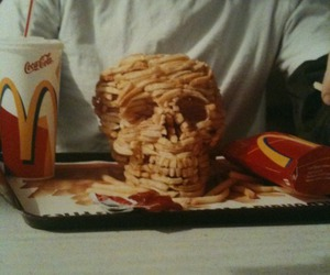 skull, food, and McDonalds image