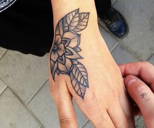 beautiful, flower, and tattoo image