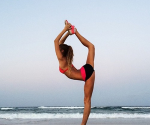 fitness, beach, and fit image