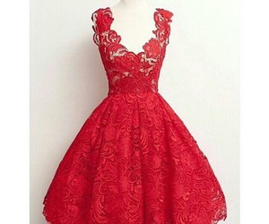 dress, red, and classy image