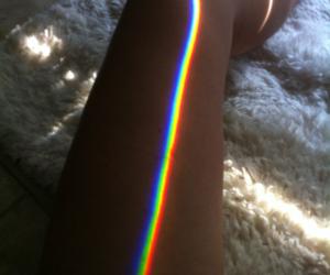 rainbow, leg, and light image