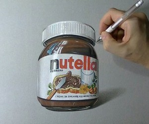 nutella, art, and draw image