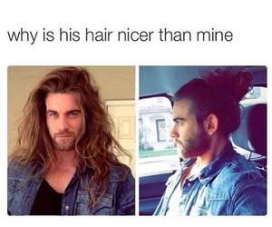 hair, nice, and mine image