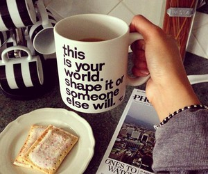 quotes, coffee, and breakfast image
