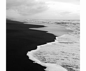 beach, sea, and black image