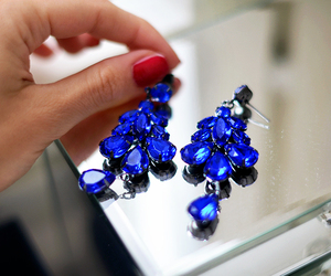 fashion, luxury, and earrings image