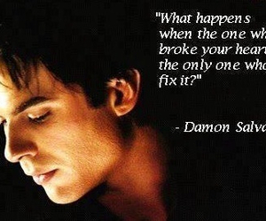 damon salvatore, damon, and the vampire diaries image