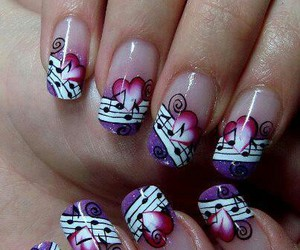 nails, music, and heart image