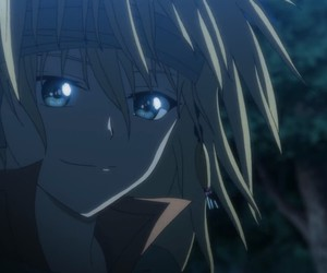anime, blue eyes, and dragon image