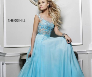 dress, prom dress, and girl image