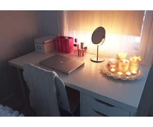 candles, girly, and laptop image