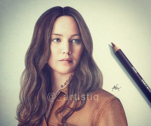 Jennifer Lawrence, hunger games, and art image