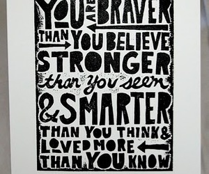 brave, quote, and life image