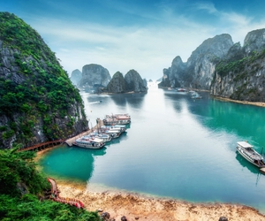 asia, halong bay, and travel image