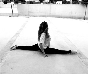 black and white and gymnastic image