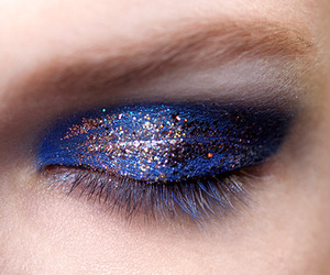 makeup, fashion, and blue image