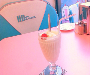 pink, cute, and cafe image