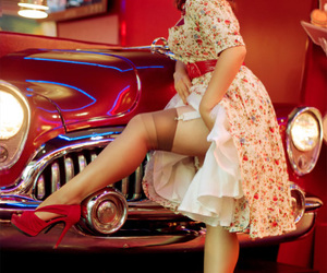 50s, dress, and red image