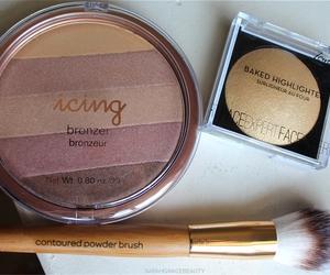 girl, makeup, and bronze image