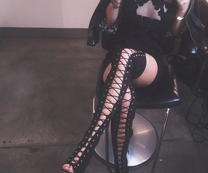 kylie jenner, shoes, and black image